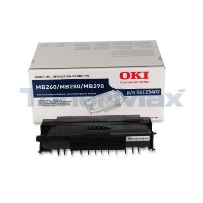 OKIDATA MB260 TONER CARTRIDGE BLACK 5.5K